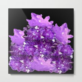 AWESOME PURPLE AMETHYST CRYSTAL CLUSTER Metal Print