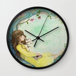 The Girl At The Moon Wall Clock