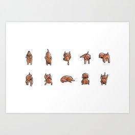 Wooferland: Wooferdog pattern Art Print