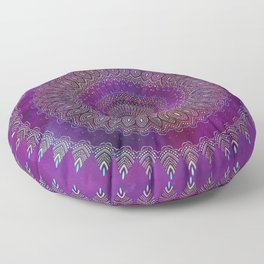 Precious Mandala in rich purple and pink tones Floor Pillow