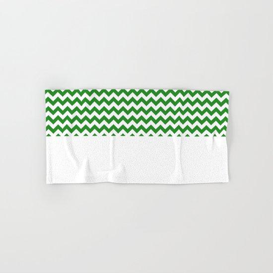 Chevron (Forest Green/White) Hand & Bath Towel