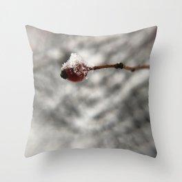 Snow Berry Throw Pillow