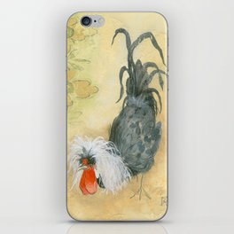 Tuscan Rooster Black iPhone Skin