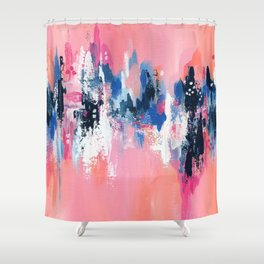 Reflections of my heartbeat Shower Curtain