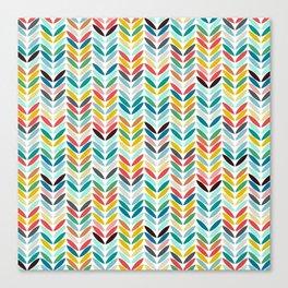 llama leaf arrow chevron white Canvas Print