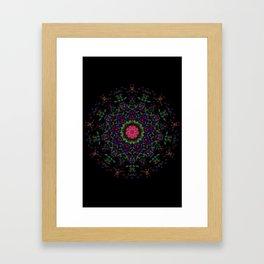 Quilt Kaleidoscope Framed Art Print