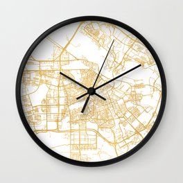 AMSTERDAM NETHERLANDS CITY STREET MAP ART Wall Clock