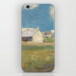 Odilon Redon - Breton Village iPhone Skin