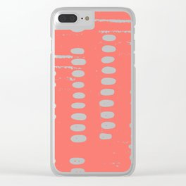 Stepping Stones, Living Coral Clear iPhone Case