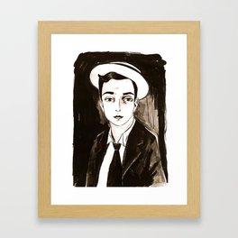 Buster Keaton per un'amica Framed Art Print
