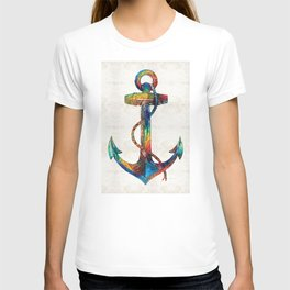 Nautical Anchor Art - Anchors Aweigh - By Sharon Cummings T-shirt
