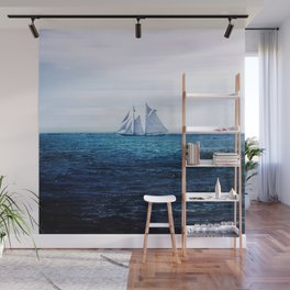 Sailing Ship on the Sea Wall Mural