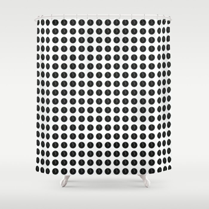 (Overworked) Guardian Angel Polka Dots Shower Curtain