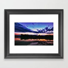 Sunset on Alum Creek Galena, Oh. Framed Art Print