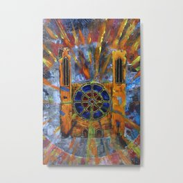 Abstract cathedral 01 Metal Print