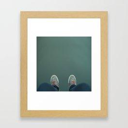 The green abyss Framed Art Print