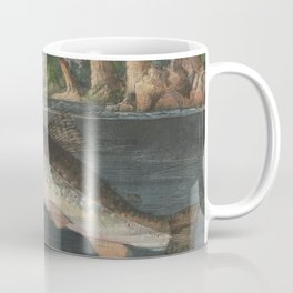 Vintage River Fishing Illustration (1874) Coffee Mug