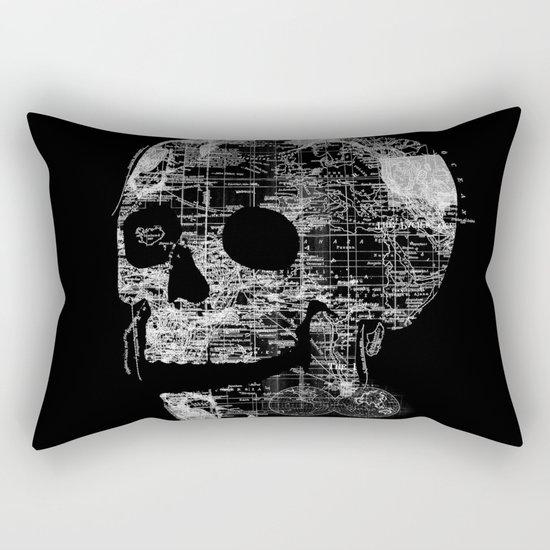 Skull Wanderlust Rectangular Pillow