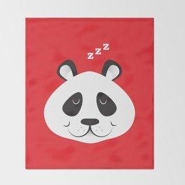 Sleepy Panda Throw Blanket