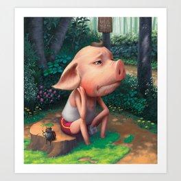 Sufferer Pig Art Print