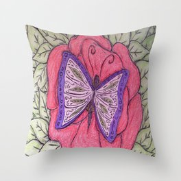 winged elegance Throw Pillow