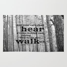 Isaiah 30:21 Rug