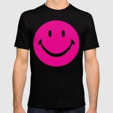 smiley02 Black MEDIUM Mens Fitted Tee