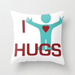 I heart Hugs Throw Pillow