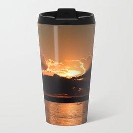 Fisherman Sunset Metal Travel Mug