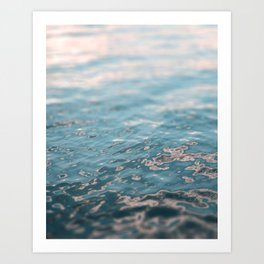 Sunset Water Art Print
