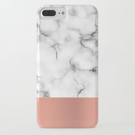 Marble & copper iPhone Case