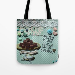 Blue chocolate Tote Bag