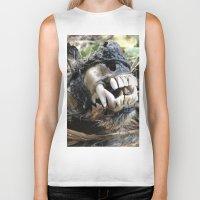 animal skull Biker Tanks featuring Animal Skull by CJ Thornburg