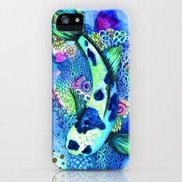 Watercolor design. Koi Fish. iPhone Case