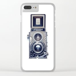 Vintage Camera Twin Lens Flexaret Clear iPhone Case