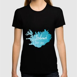 Iceland I love you T-shirt