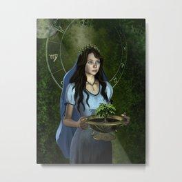 Virgo zodiac fantasy Metal Print