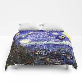 TARDIS STARRY NIGHT Comforters