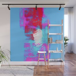 abstract blue pink Wall Mural