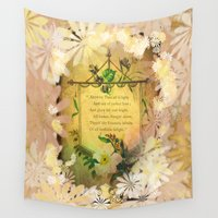 poem Wall Tapestries featuring Love Poem by Lucia
