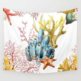 Sea Life Pattern 11 Wall Tapestry