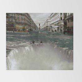 The Street Fall Throw Blanket