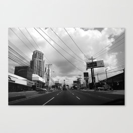 Driving in Panama City Canvas Print