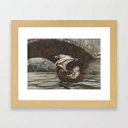 Arthur Rackham (1907) - Under the bridge Framed Art Print