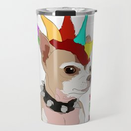 Happy Pride Month-Bad Ass Chihuahua Travel Mug