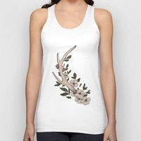 antler Tank Tops featuring Floral Antler by Jessica Roux