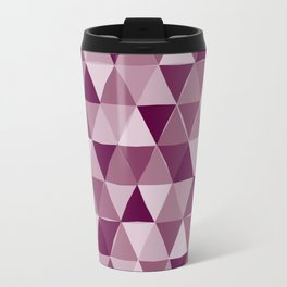 Purple Triangles Travel Mug