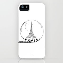 Paris in a glass ball .  City art, Decorative Prints, altwall, Home Decor Graphicdesign iPhone Case