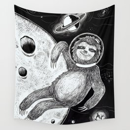 Sloth in Space Wall Tapestry