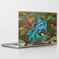 dolphin Laptop & iPad Skins featuring Dolphin by gretzky
